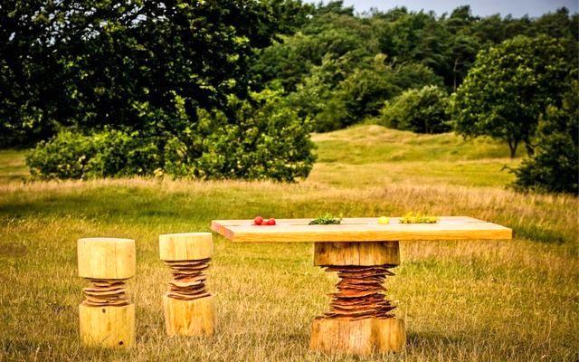 мебель бензопилой от Bente Hovendal