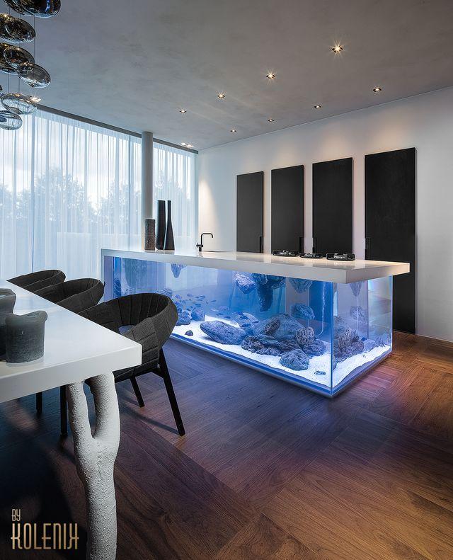 кухня с аквариумом от Kolenik