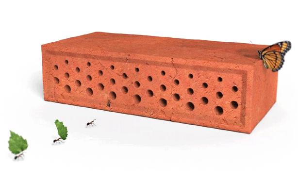 brike кирпичный блок с отверстиями для жизни насекомых