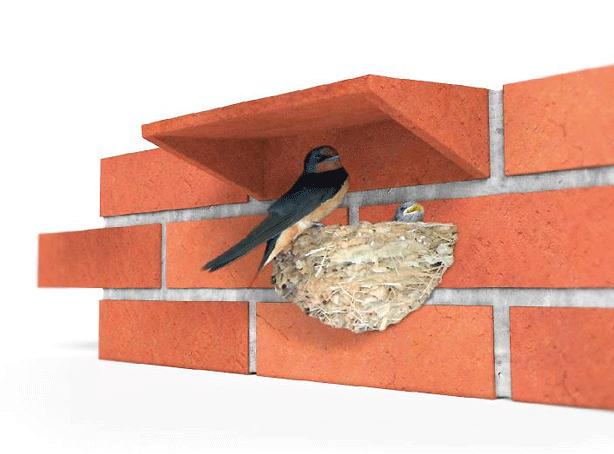 brik модульный кирпичный домик для птиц