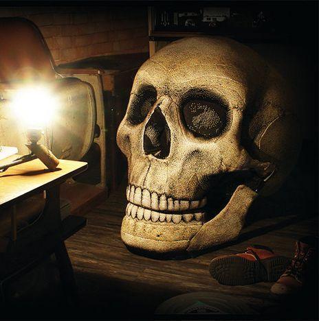 кресло череп к Хэллоуину