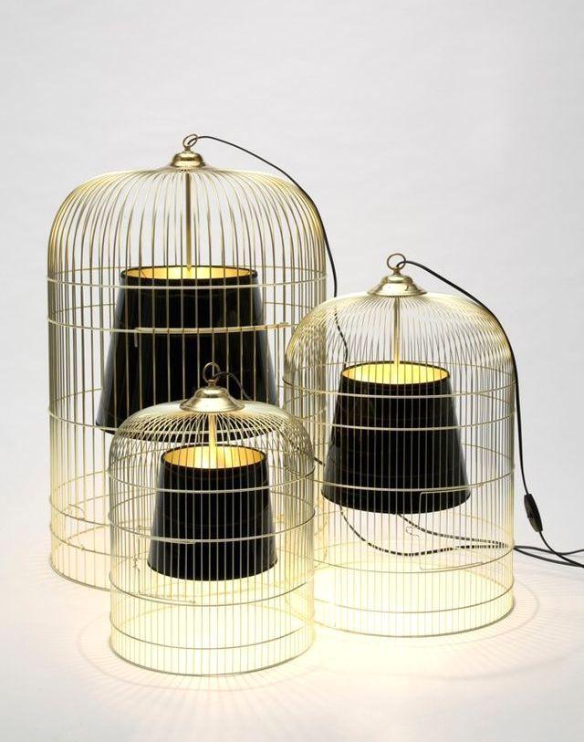 светильник из клетки для птиц своими руками