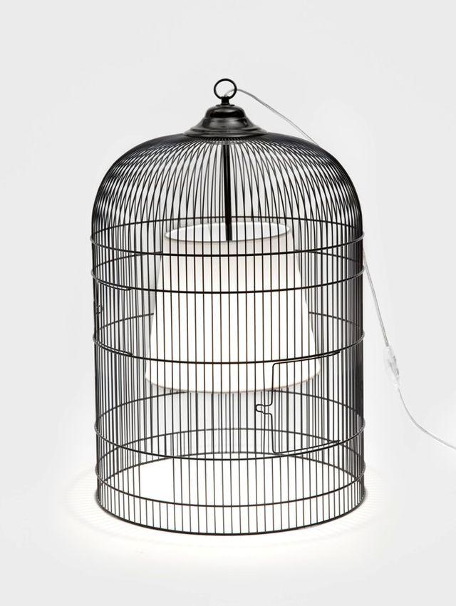 светильник из птичьей клетки своими руками