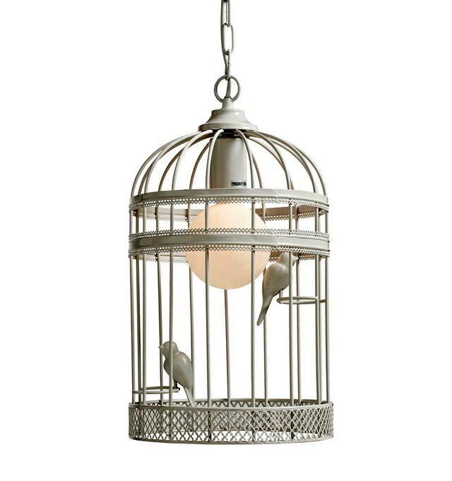 лампа из птичьей клетки своими руками