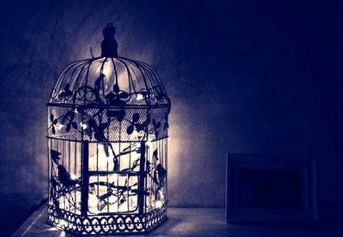 винтажный светильник из птичьей клетки своими руками