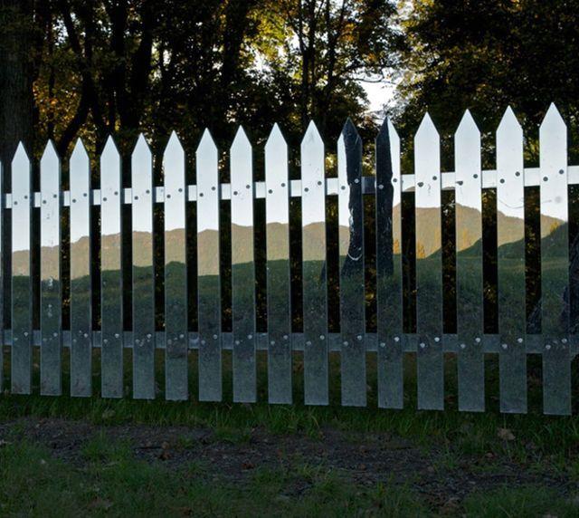 зеркальный забор своими руками