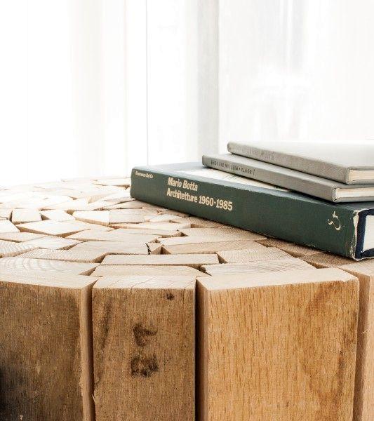 деревянный журнальный столик из досок от Oliver Conrad