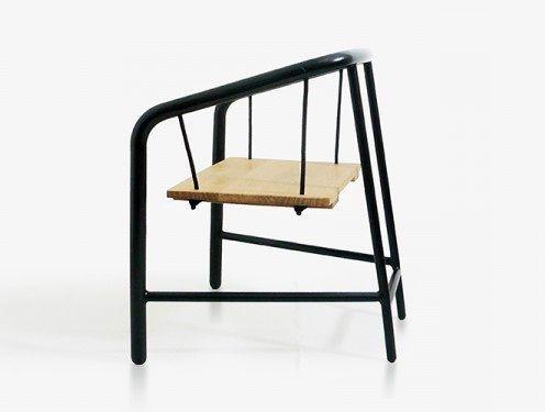 кресло portique armchair с сидением-качелями, вид сбоку