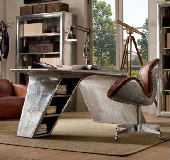 стол - самолетное крыло в стиле индастриал