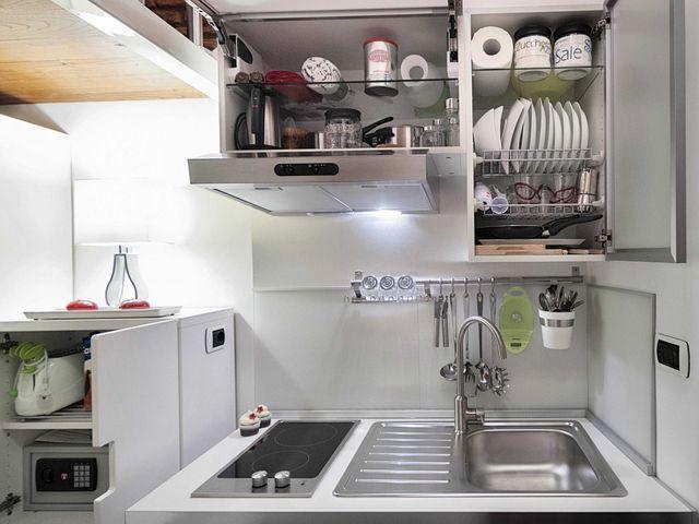 интерьер кухни в маленькой квартире площадью 7 кв м