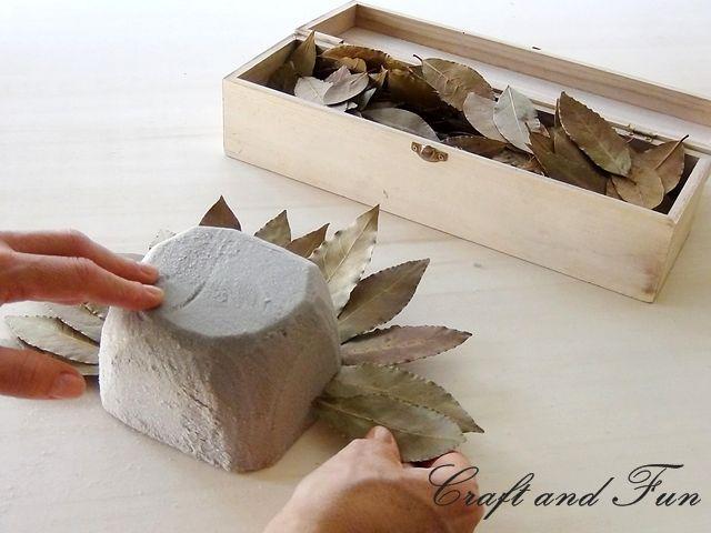 подсвечник своими руками из лавровых листьев, мастер-класс