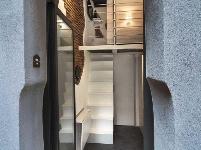 самая маленькая квартира в Италии 7 кв м, вход