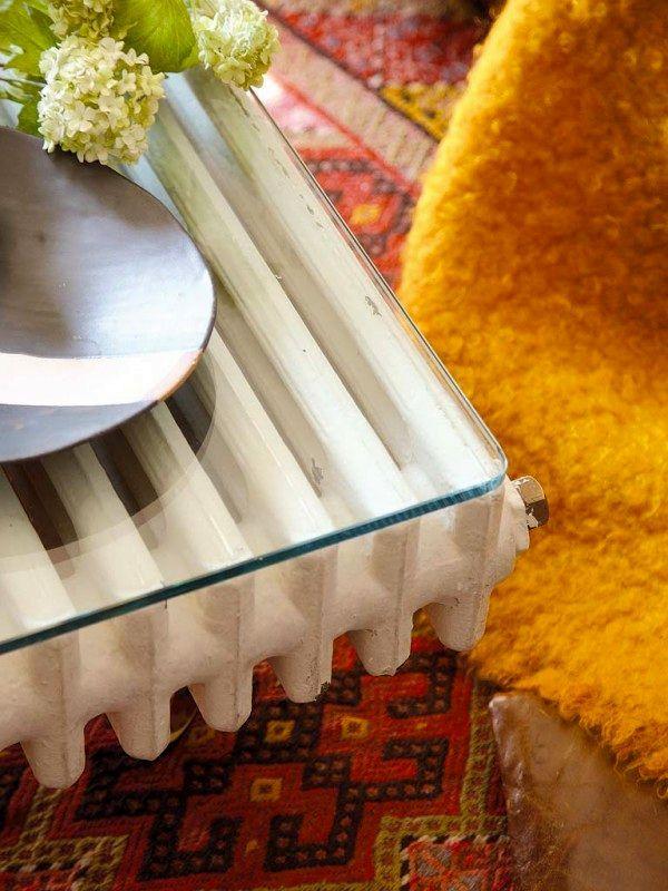 кофейный стол из радиатора своими руками