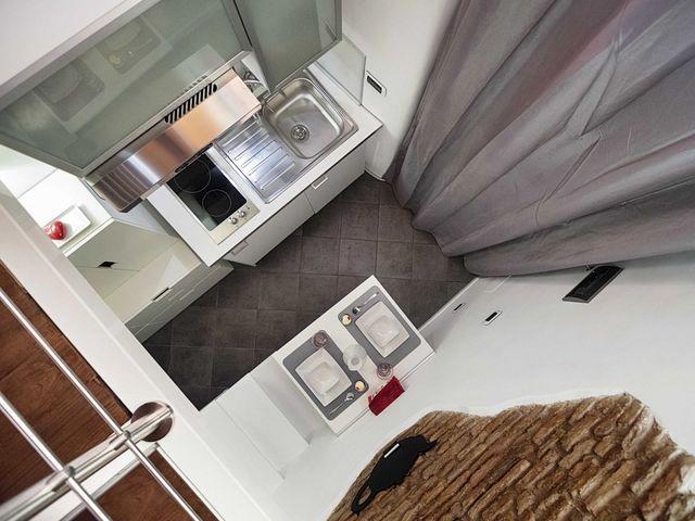 самая маленькая квартира интерьер вид сверху