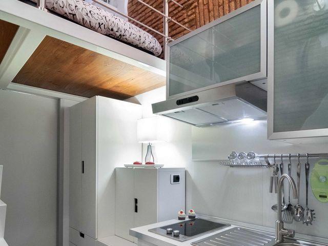 зона кухни маленькой квартиры 7 кв м