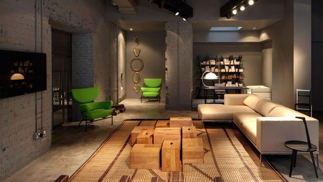 интерьер квартиры в Лондоне в стиле андерграунда