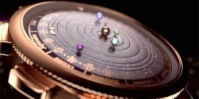 астрономические наручные часы с солнечной системой
