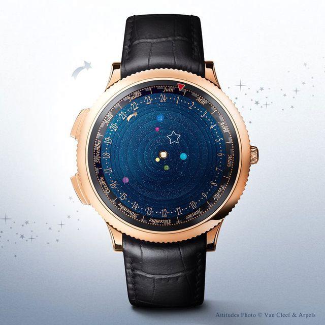 драгоценный астрономические наручные часы с солнечной системой