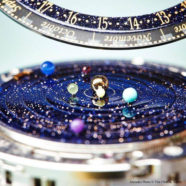 часы с солнечной системой