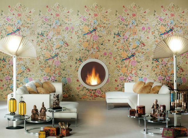 керамическая имитирующая обои плитка, серия florilege
