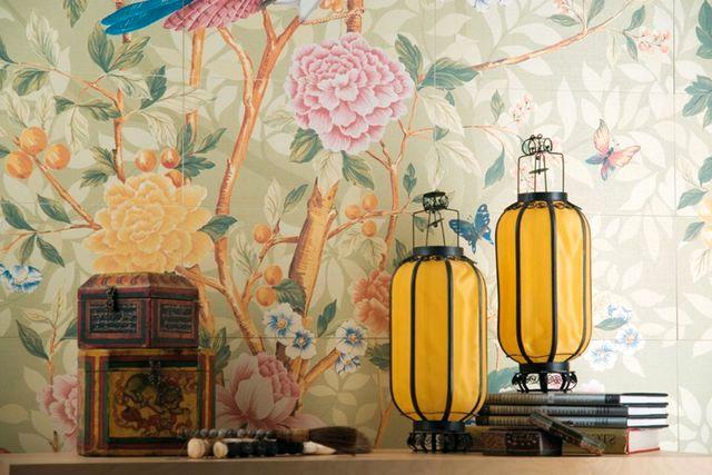 керамическая плитка, имитирующая обои серия florilege