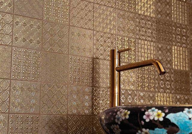 керамическая плитка, имитирующая обои серия dentelle