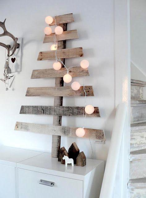 новогоднее дерево своими руками из палеты-поддона