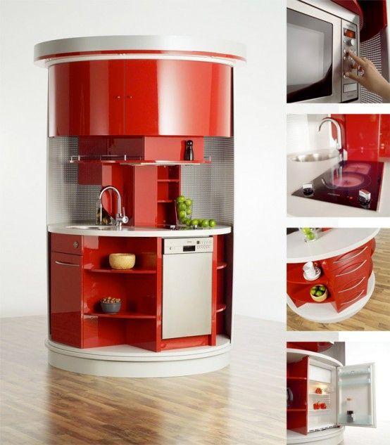 оригинальная компактная кухня circle kitchen