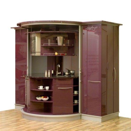 круглая кухня circle kitchen с шкафами