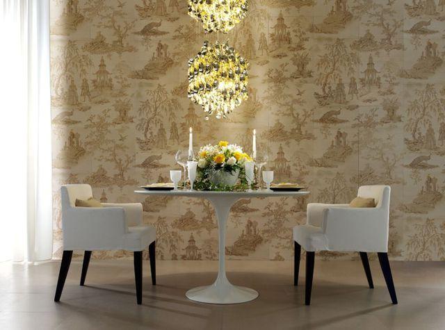 керамическая плитка, имитирующая обои серия tresjouy