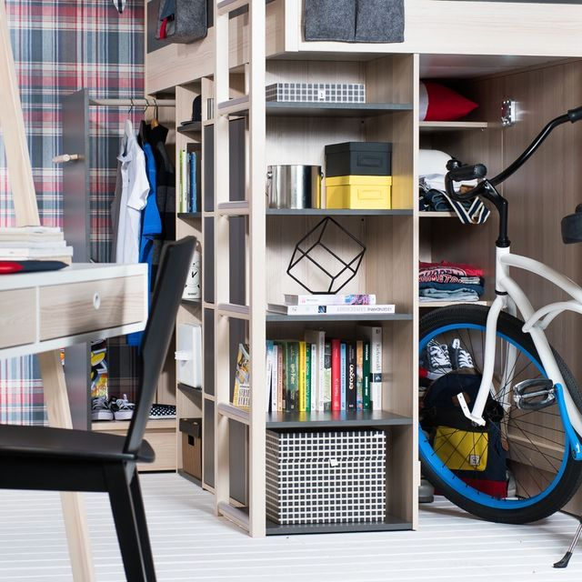 деревянная модульная мебель для детской комнаты Spot от Wiktoria Lenart