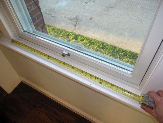 измерение окна для шторы