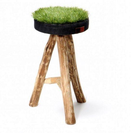 стул с травой grass stool collection