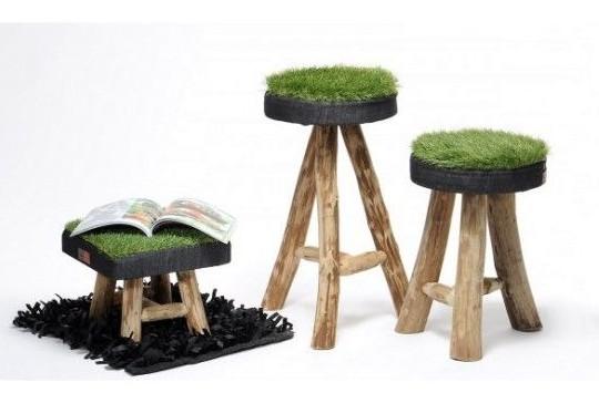 стулья с травой