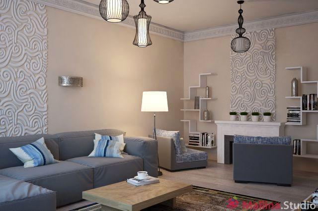фото интерьера гостиной от mallina studio