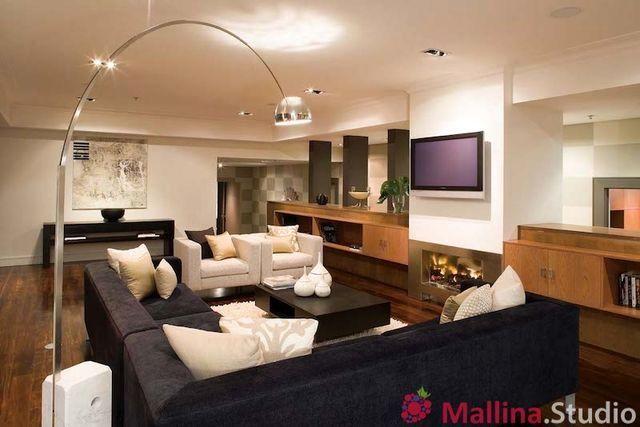 интерьер гостиной mallina studio