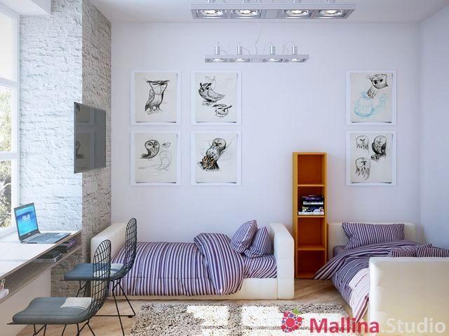 интерьер детской комнаты mallina studio