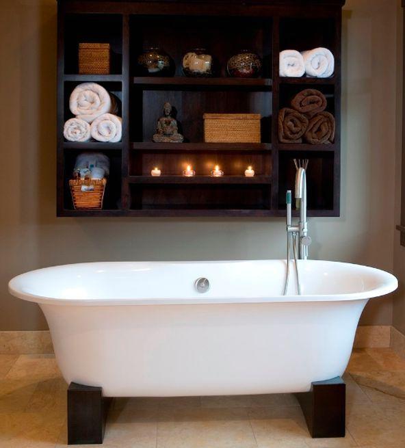 полки как система хранения в ванной