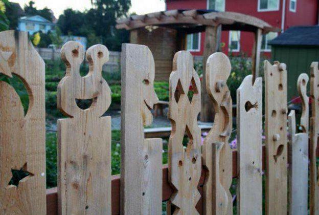 фигурный забор своими руками