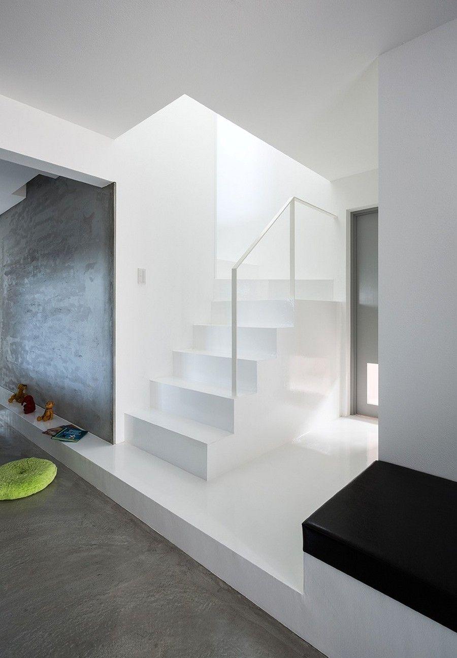 японский минимализм в интерьере дома scape house