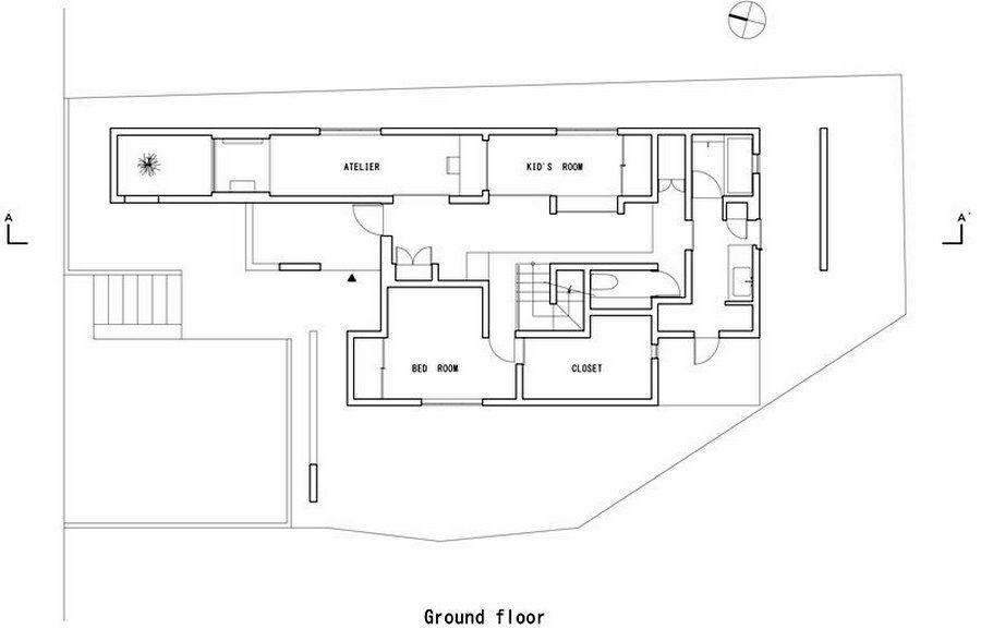 план второго этажа дома scape house