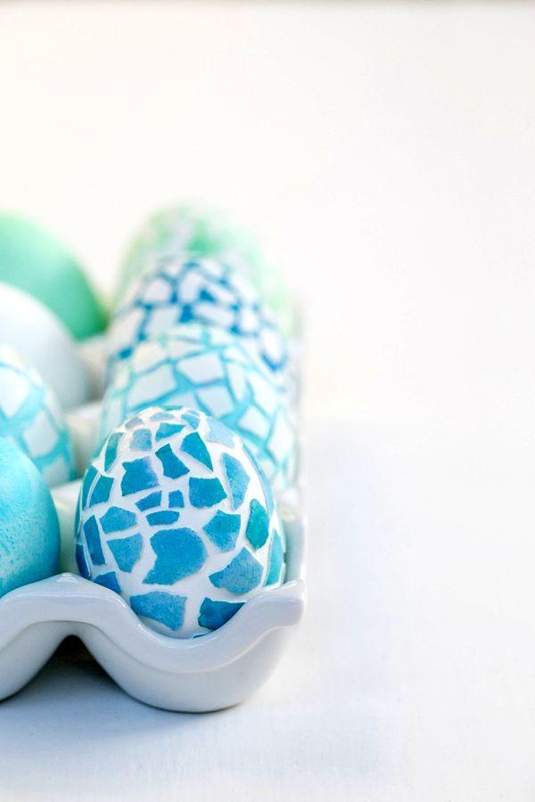 украшаем пасхальные яйца мозаикой