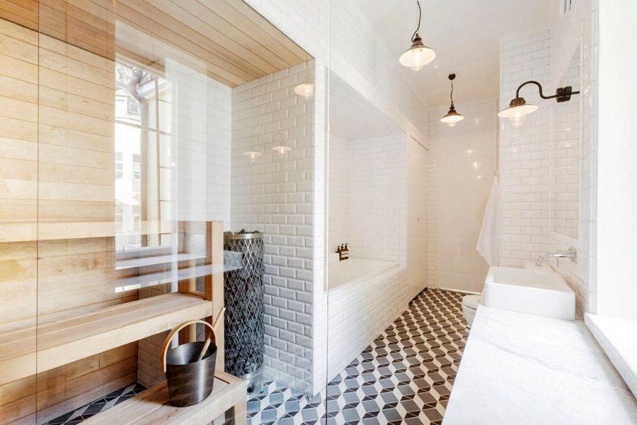дизайн ванной с сауной
