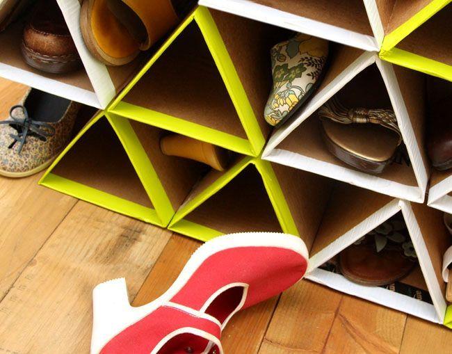 обувные полки своими руками из картона
