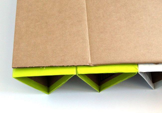 мастер-класс по созданию обувных полок из картона своими руками
