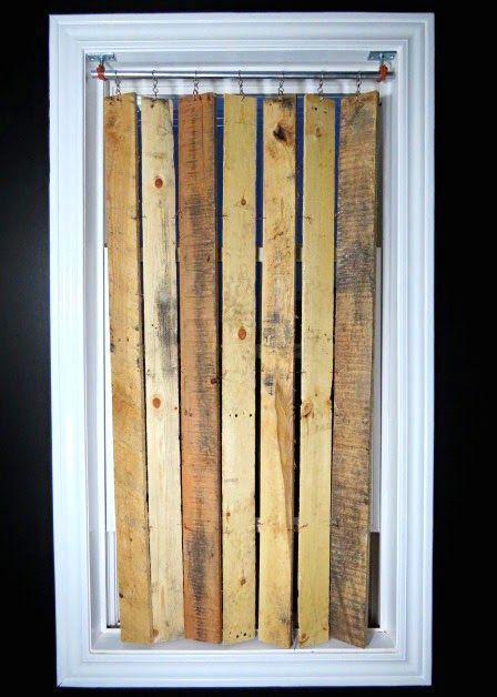 вертикальные жалюзи своими руками из деревянных досок
