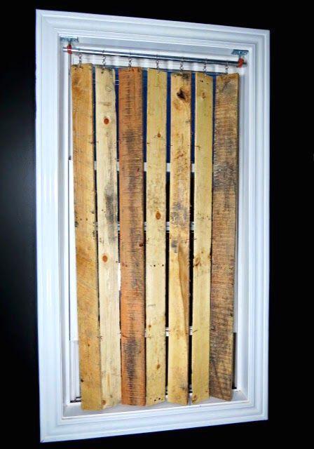 вертикальные жалюзи своими руками из деревянных планок