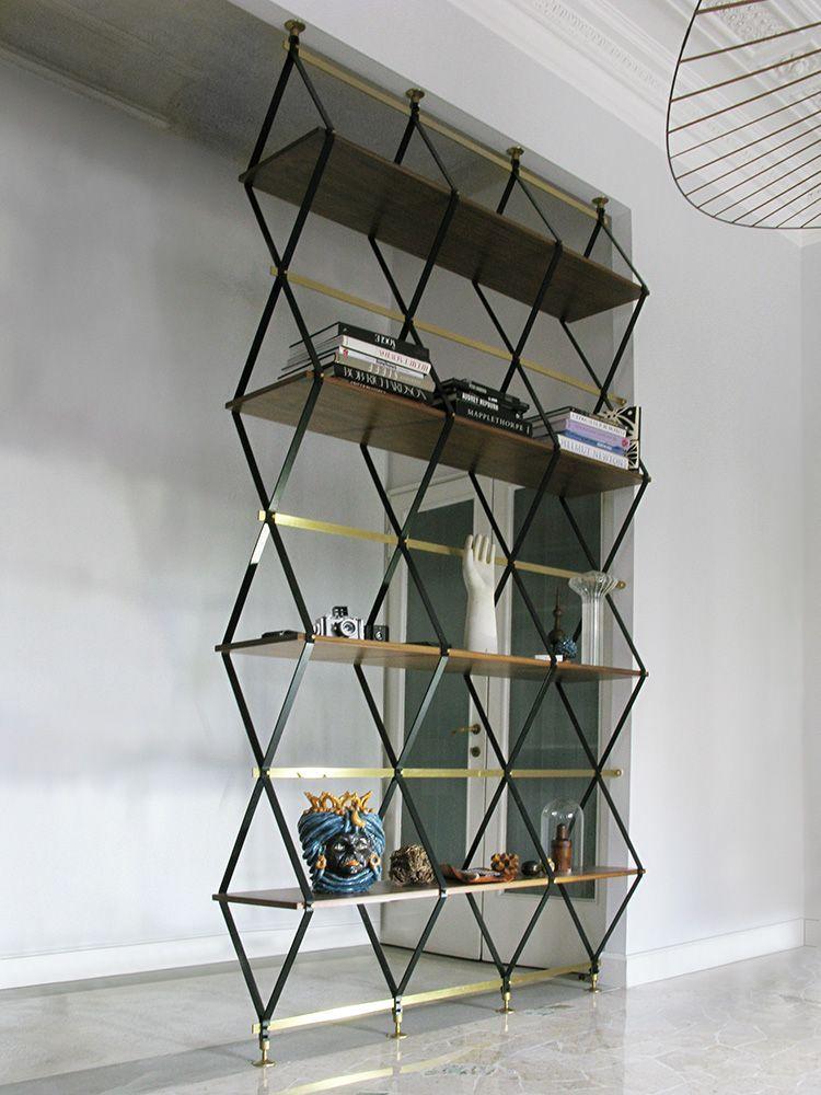 стеллаж - делитель пространства Romboidale от Pietro Russo