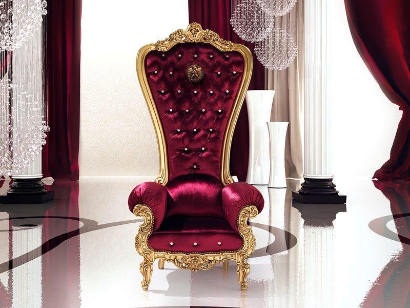 бархатное кресло трон от caspani