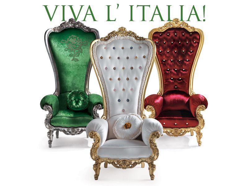кресла троны от caspani в цветах итальянского флага